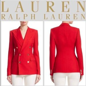 Ralph Lauren Red Double Breasted Blazer NWT